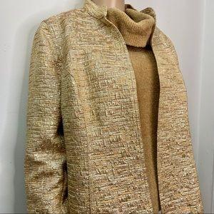 Chico's Gold Bouchée Long Sleeve Jacket Size Large